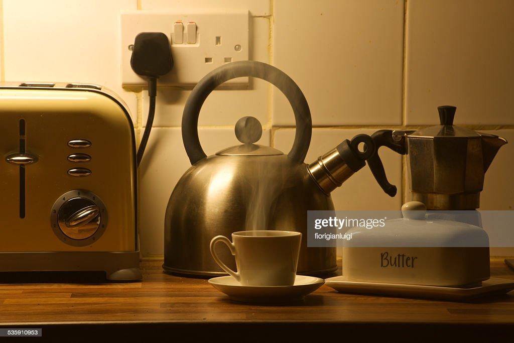 aroma a café expresso y café : Foto de stock