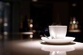 Espresso Coffee in Luxurious Hotel Bar