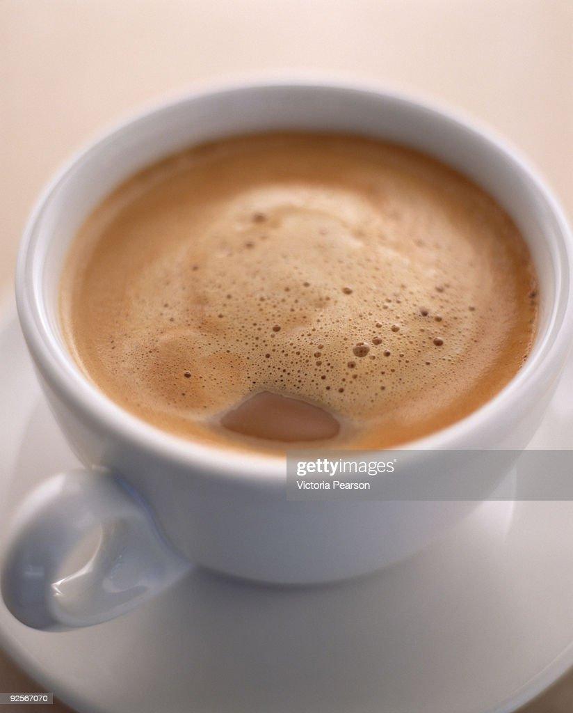 Espresso in demitasse cup : Stock Photo