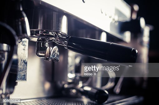 Espresso making machine : Stock Photo