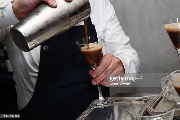 Espresso martinis are served during the celebration of women in the kitchen part of the Bank of America Dinner Series presented by The Wall Street...