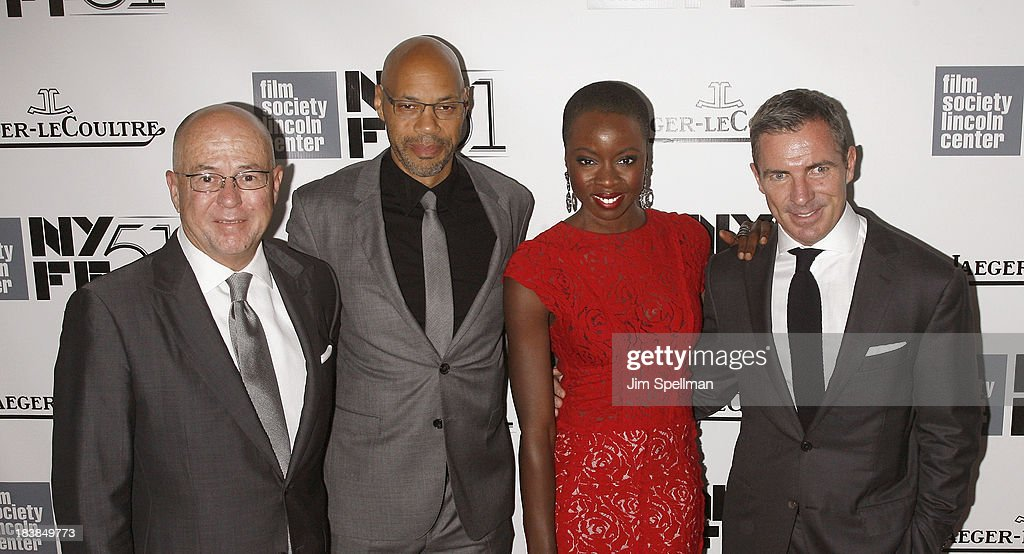 Esquire Editor-in-Chief David Granger, screenwriter John Ridley, actress Danai Jekesai Gurira, and Esquire Publisher Jack Essig attend the Gala Tribute To Ralph Fiennes during the 51st New York Film Festival at Alice Tully Hall at Lincoln Center on October 9, 2013 in New York City.