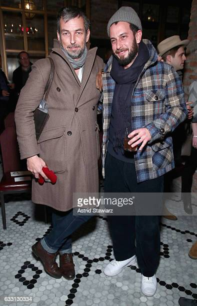 Esquire fashion director Nick Sullivan and Magasin cofounder Josh Peskowitz attend the Billy Reid Autumn/Winter 2017 show at The Cellar at The...