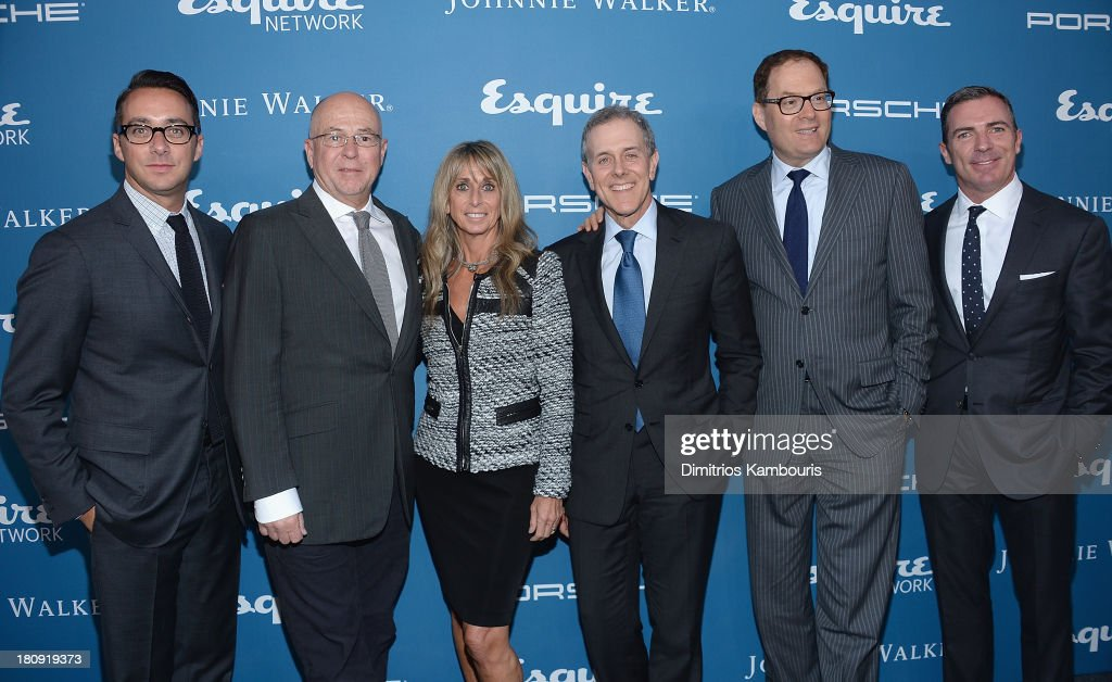Esquire Network General Manager Adam Stotsky, Esquire Editor-in-Chief David Granger, Chairman of the NBCUniversal Cable Entertainment Group <a gi-track='captionPersonalityLinkClicked' href=/galleries/search?phrase=Bonnie+Hammer&family=editorial&specificpeople=223874 ng-click='$event.stopPropagation()'>Bonnie Hammer</a>, Hearst Corporation CEO Steven R. Swartz, President of Hearst Magazines David Carey, and Esquire Publisher Jack Essig attend Esquire 80th Anniversary And Esquire Network Launch Celebration at Highline Stages on September 17, 2013 in New York City.