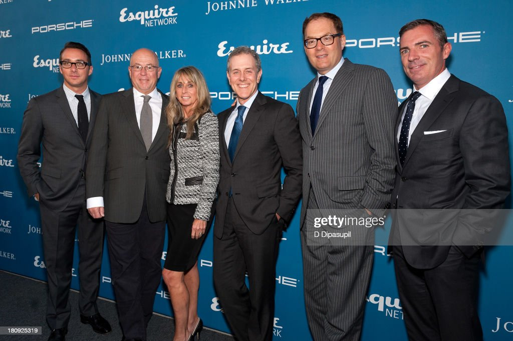 Esquire Network General Manager Adam Stotsky, Esquire Editor-in-Chief David Granger, Chairman of the NBCUniversal Cable Entertainment Group <a gi-track='captionPersonalityLinkClicked' href=/galleries/search?phrase=Bonnie+Hammer&family=editorial&specificpeople=223874 ng-click='$event.stopPropagation()'>Bonnie Hammer</a>, Hearst Corporation CEO Steven R. Swartz, Hearst Magazines president David Carey, and Esquire Publisher Jack Essig attend the Esquire 80th Anniversary And Esquire Network Launch Celebration at Highline Stages on September 17, 2013 in New York City.