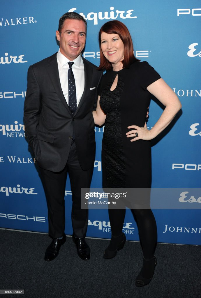 Esquire Publisher Jack Essig and actress <a gi-track='captionPersonalityLinkClicked' href=/galleries/search?phrase=Kate+Flannery&family=editorial&specificpeople=580714 ng-click='$event.stopPropagation()'>Kate Flannery</a> attend the Esquire 80th anniversary and Esquire Network launch celebration at Highline Stages on September 17, 2013 in New York City.