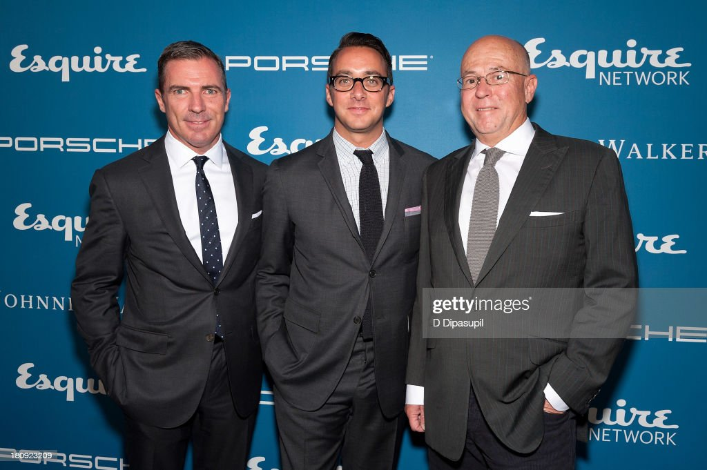 Esquire publisher Jack Essig, Esquire Network General Manager Adam Stotsky, and Esquire Editor-in-Chief David Granger attend the Esquire 80th Anniversary And Esquire Network Launch Celebration at Highline Stages on September 17, 2013 in New York City.