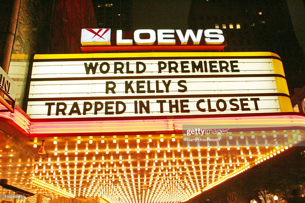 Esquire Theater Marquee During R. Kellyu0027s U0027Trapped In The Closet, Chapters  1