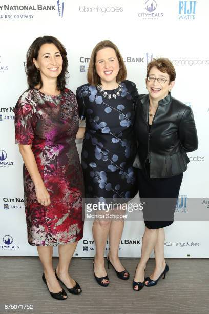 Esra Ozer Executive Director of Citymeals on Wheels Beth Shapiro and Anne E Cohen attend the 31st Annual Citymeals On Wheels Power Lunch For Women at...