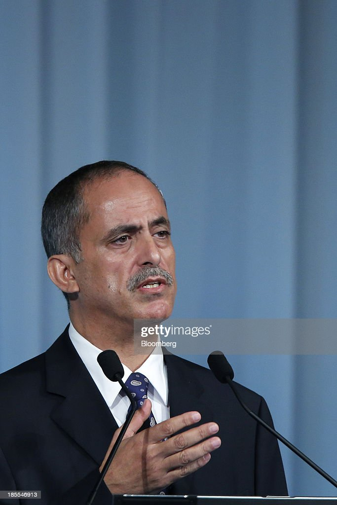 Essa Al Ghurair, vice chairman of Al Ghurair Investment LLC, speaks at the 15th Nikkei Global Management Forum in Tokyo, Japan, on Tuesday, Oct. 22, 2013. The forum concludes today. Photographer: Kiyoshi Ota/Bloomberg via Getty Images
