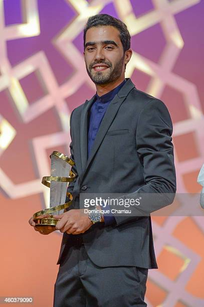 Essam Doukhou awrded Cinecoles Award during the 14th Marrakech International Film Festival on December 12 2014 in Marrakech Morocco