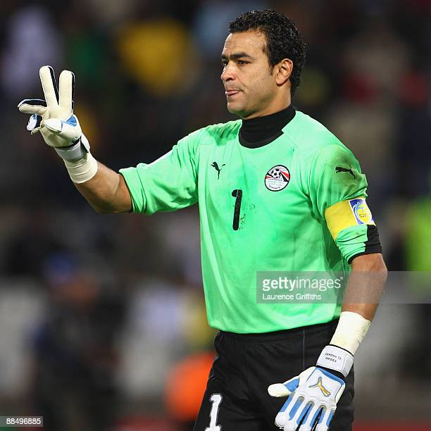 Essam El Hadary of Egypt during the FIFA Confederations Cup match between Brazil and Egypt at The Free State Stadium on June 15 2009 in Bloemfontein...