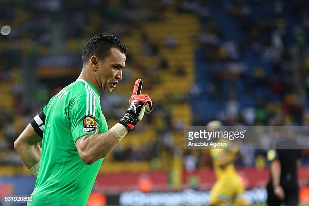 Essam El Hadary of Egypt is seen during the 2017 Africa Cup of Nations group D football match between Mali and Egypt in PortGentil Gabon on January...