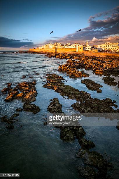 Essaouira, Morocco: The medina at sunset