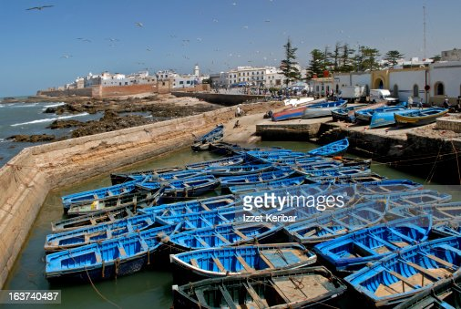 Essaouira Port and blue boats