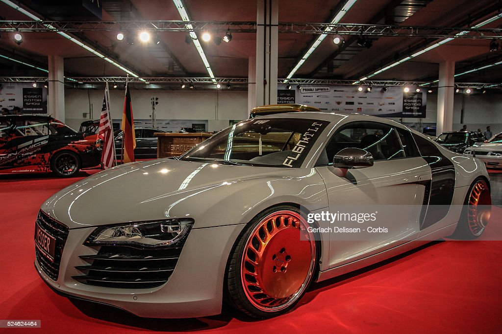 Essen Tuning Experience with a tuned Audi R8 on display at the 2013 Essen Motor Show in Germany November 29th 2013