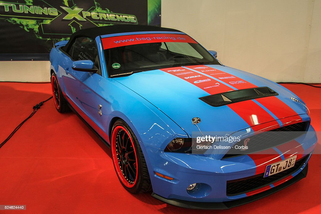 Essen Tuning Experience with a tuned Ford Mustang Shelby GT500 on display at the 2013 Essen Motor Show in Germany November 29th 2013