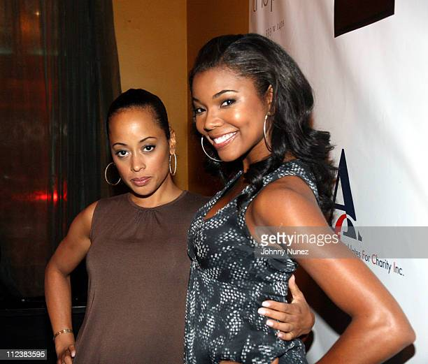 Essence Atkins and Gabrielle Union during Athletes for Charity 2007 Initiative Hosted by Gabrielle Union Jay Galvin and Michael Strahan at Slate in...