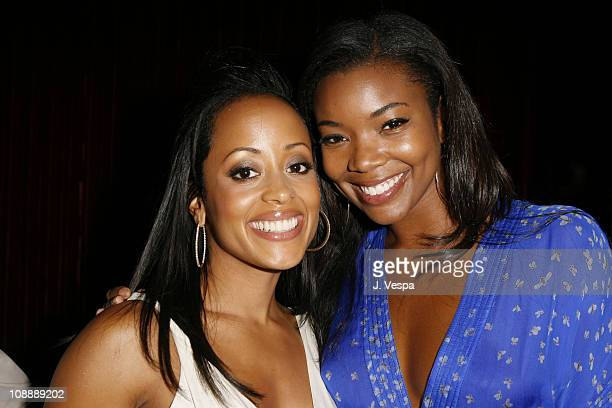 Essence Atkins and Gabrielle Union during Vanity Fair Presents the 2006 Svedka Erotica Reading Series at Shag in Los Angeles California United States