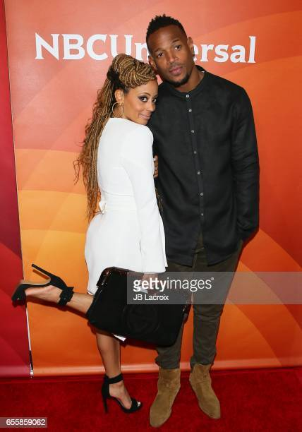 Essence Atkins and Marlon Wayans attend the 2017 NBCUniversal Summer Press Day on March 20 2017 in Beverly Hills California