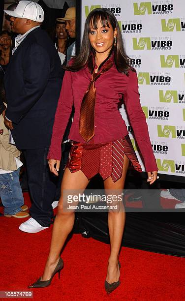 Essence Atkins during 2004 Vibe Awards Arrivals at Barker Hanger in Santa Monica California United States
