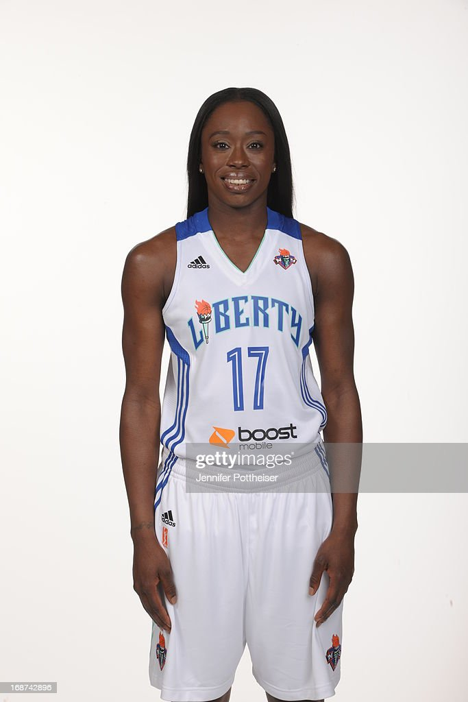 Essence Carson #17 of the New York Liberty poses for a photo during WNBA Media Day on May 13, 2013 at the Madison Square Garden Training Facility in Tarrytown, New York.