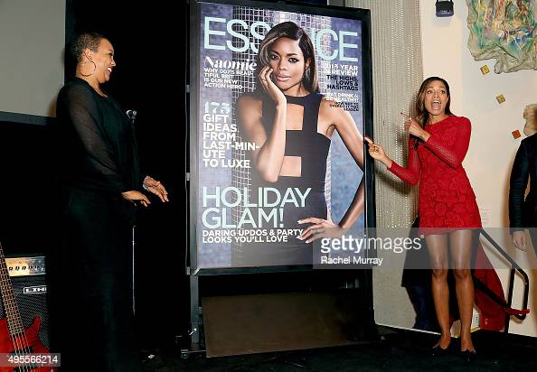 Essence Magazine's Regina Robertson reveals Essence Magazine's latest cover of Bond Actress and honoree Naomie Harris during the Black Women of Bond...