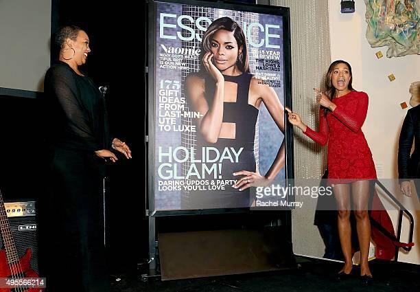 Essence Magazine's Regina Robertson reveals Essence Magazine's latest cover of Bond Actress and honoree Naomie Harris during the Black Women of Bond...