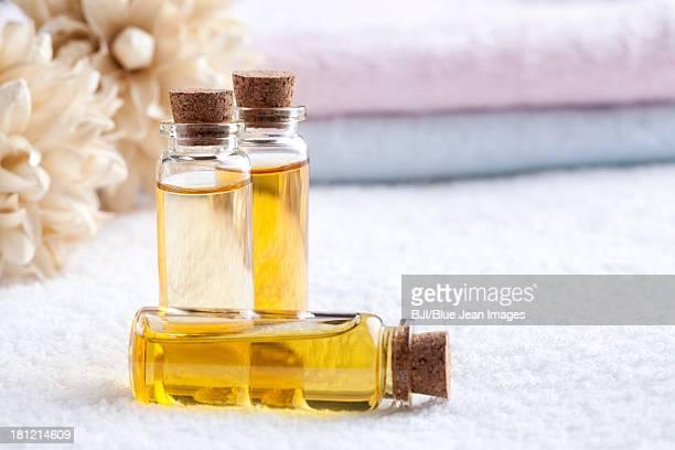 Essential oil in vials