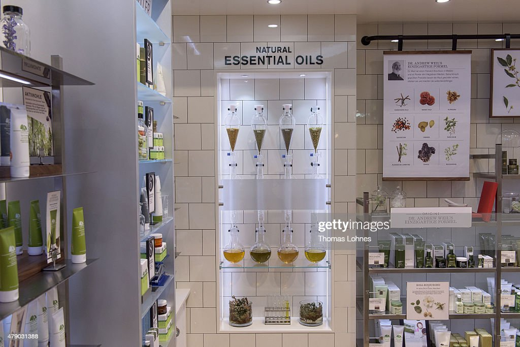 Essential Oils pictured at the Origins flagship counter opening at Douglas on June 29 2015 in Frankfurt am Main Germany