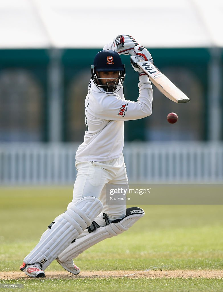 Essex batsman Ravi Bopara in action during day two of the Specsavers County Championship Division Two match between Worcestershire and Essex at New Road on May 2, 2016 in Worcester, England.
