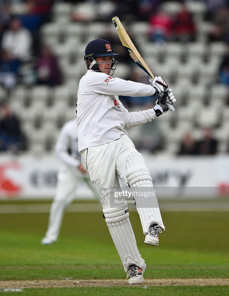 Essex batsman Tom Westley hooks to the boundary during his century on day two of the Specsavers County Championship Division Two match between Worcestershire and Essex at New Road on May 2, 2016 in Worcester, England.