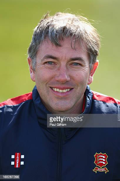 Essex County Cricket Club Second Eleven Coach Chris Silverwood poses for a portrait during the Essex County Cricket Club annual photocall at The...