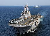 USS Essex transits off the coast of northeastern Japan.