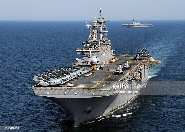 USS Essex transits off the coast of northeastern Japan.