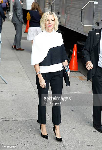 essica Seinfeld visits 'Late Show With David Letterman' May 20 2015 at Ed Sullivan Theater on May 20 2015 in New York City