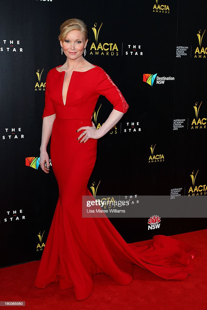 Essie Davis arrives at the 2nd Annual AACTA Awards at The Star on January 30, 2013 in Sydney, Australia.