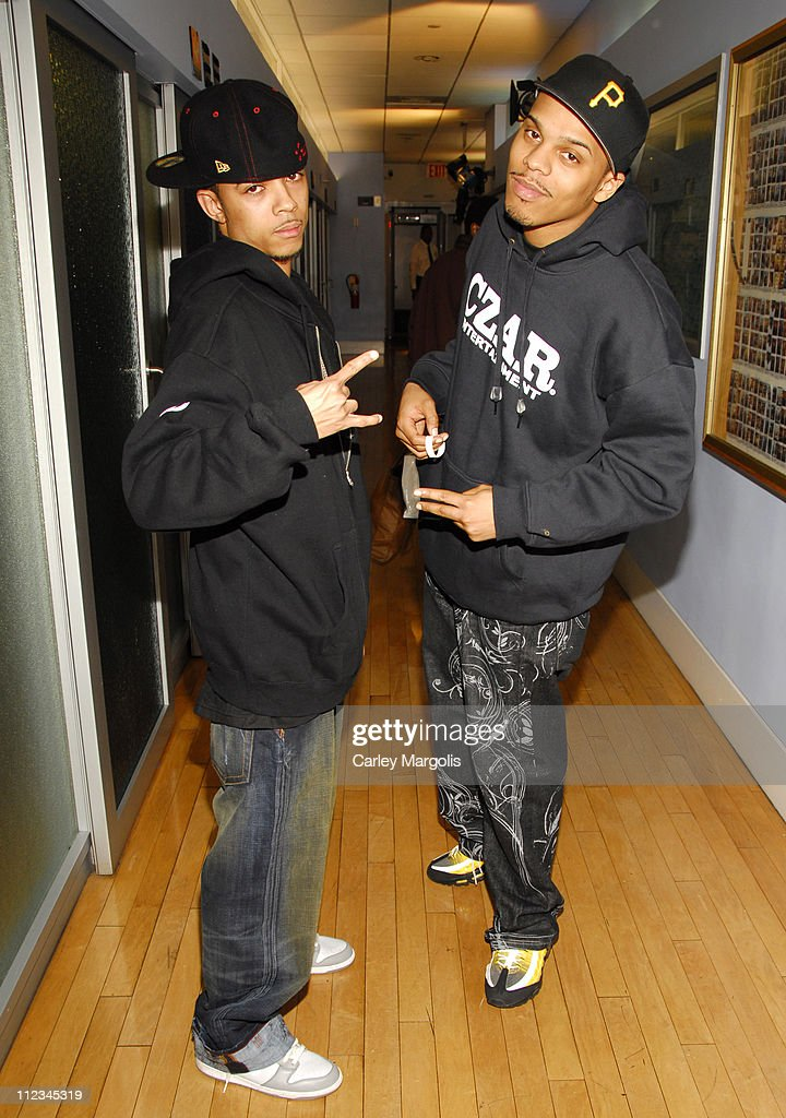Esso and Sickamore during Ashanti June Ambrose Jibbs and Esso Visit 'Sucker Free' on MTV November 28 2006 at MTV Studios in New York City New York...