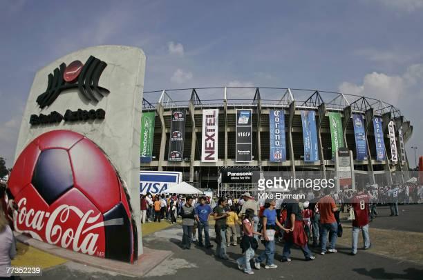 Estadio Azteca stadium before a regular seasonNFL game between the Arizona Cardinals and the San Francisco 49ers at Estadio Azteca in Mexico City...