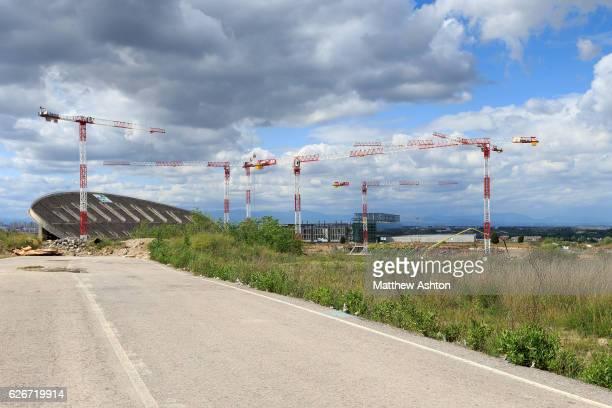 Estadio La Peineta officially known as Estadio Olímpico de Madrid under construction in Madrid Spain It will become the new stadium of the football...