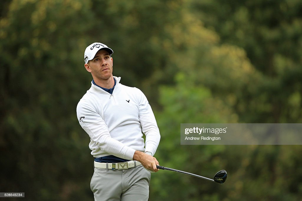 Estanislao Goya of Argentina plays his tee shot on the 16th hole during the second round of the Trophee Hassan II at Royal Golf Dar Es Salam on May 6, 2016 in Rabat, Morocco.