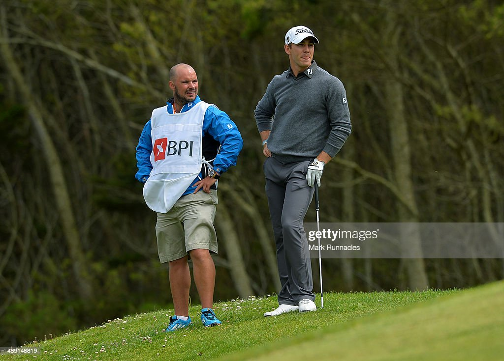 Estanislao Goya of Argentina waits to play on the 16th hole during the Madeira Islands Open - Portugal - BPI at Club de Golf do Santo da Serra on May 10, 2014 in Funchal, Madeira, Port gal.