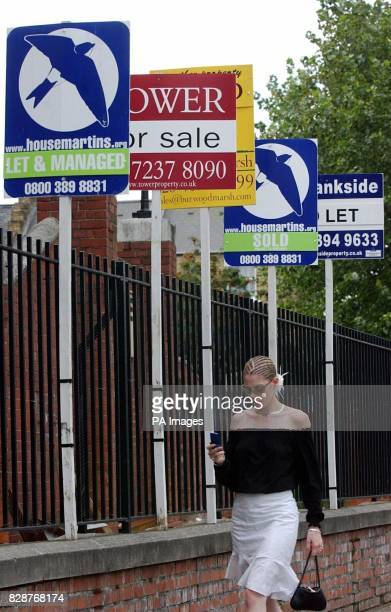 Estate agent signs on a London street Demand for rented accommodation remains at its strongest level for two years as a result of booming house...