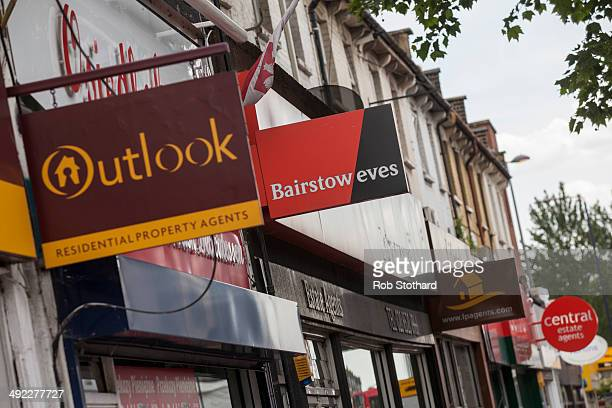 Estate agents on Hoe Street in Walthamstow on May 19 2014 in London England The governor of the Bank of England Mark Carney has given his strongest...
