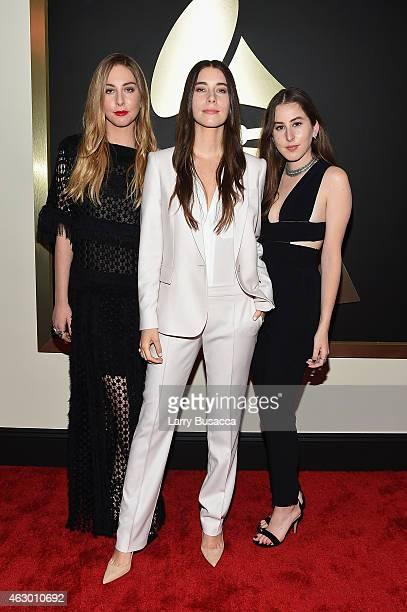 Este Haim Danielle Haim and Alana Haim of Haim attend The 57th Annual GRAMMY Awards at the STAPLES Center on February 8 2015 in Los Angeles California
