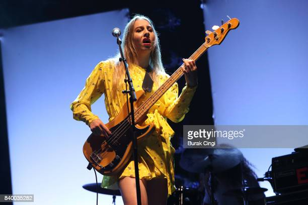 Este Haim of Haim performs on day 3 of Reading Festival at Richfield Avenue on August 27 2017 in Reading England