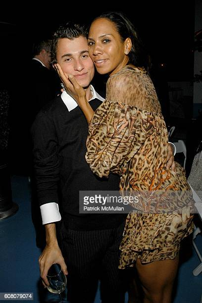 Esteban Cortazar and Barbara Becker attend Rush Philanthropic Dinner hosted by Russel Simmons and Kehinde Wiley at The Delano on December 6 2006 in...