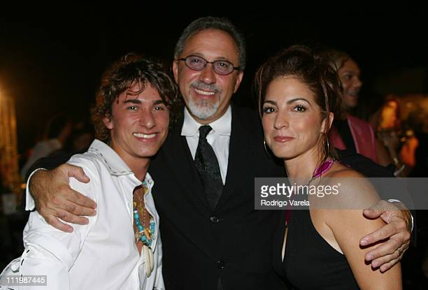 Esteban Cortazar Emilio Estefan Gloria Estefan during Designer Roberto Cavalli Hosts Fashion Fete to Benefit the Jackson Metropolitan's Technology...
