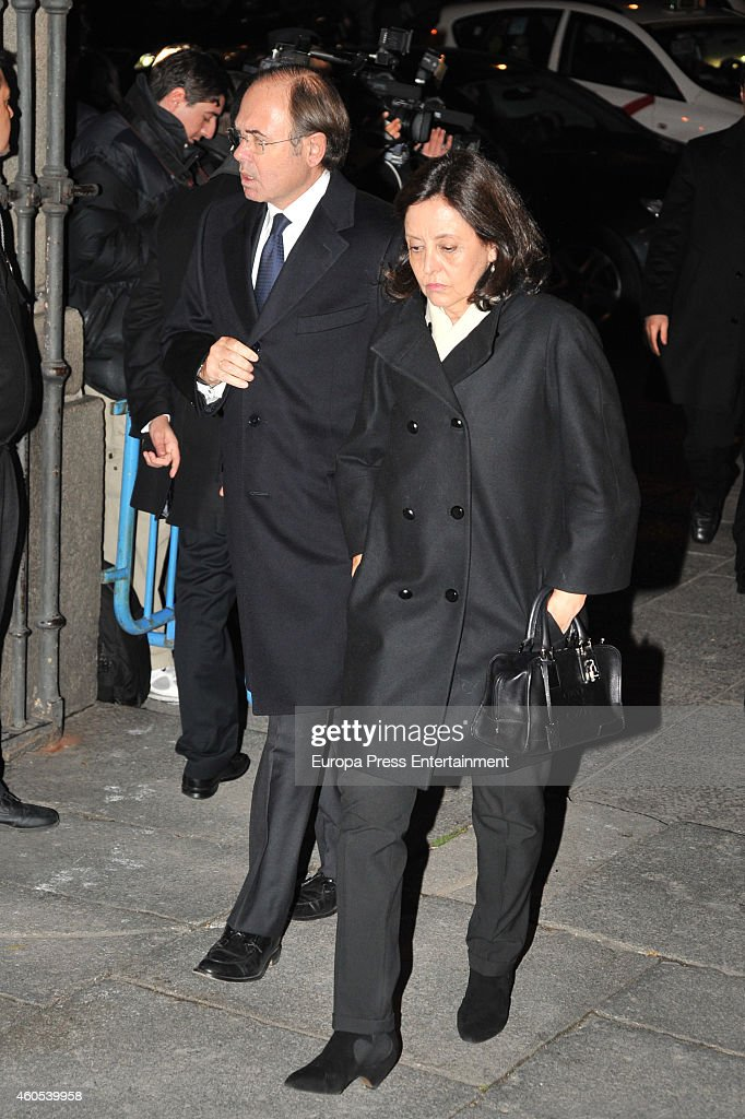 Esteban Gonzalez Pons attend memorial service for Duchess of Alba on December 15 2014 in Madrid Spain