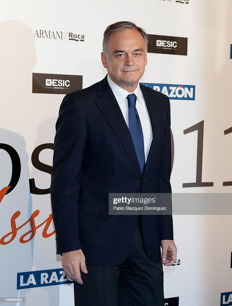 Esteban Gonzalez Pons attends 'Alfonso Ussia Awards 2011' at La Razon headquarters on December 14 2011 in Madrid Spain
